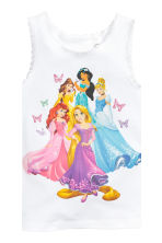 2-pack tops - White/Disney Princesses - Kids | H&M CN 3